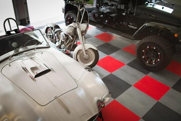 Racing Tile Garage Floor