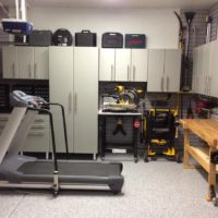 Garage Cabinets, Slat Wall System with Epoxy Coated Floors