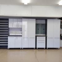 Garage Organization System with Epoxy Coated Floors
