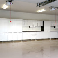 Large Garage Organization System with Epoxy Coated Floors