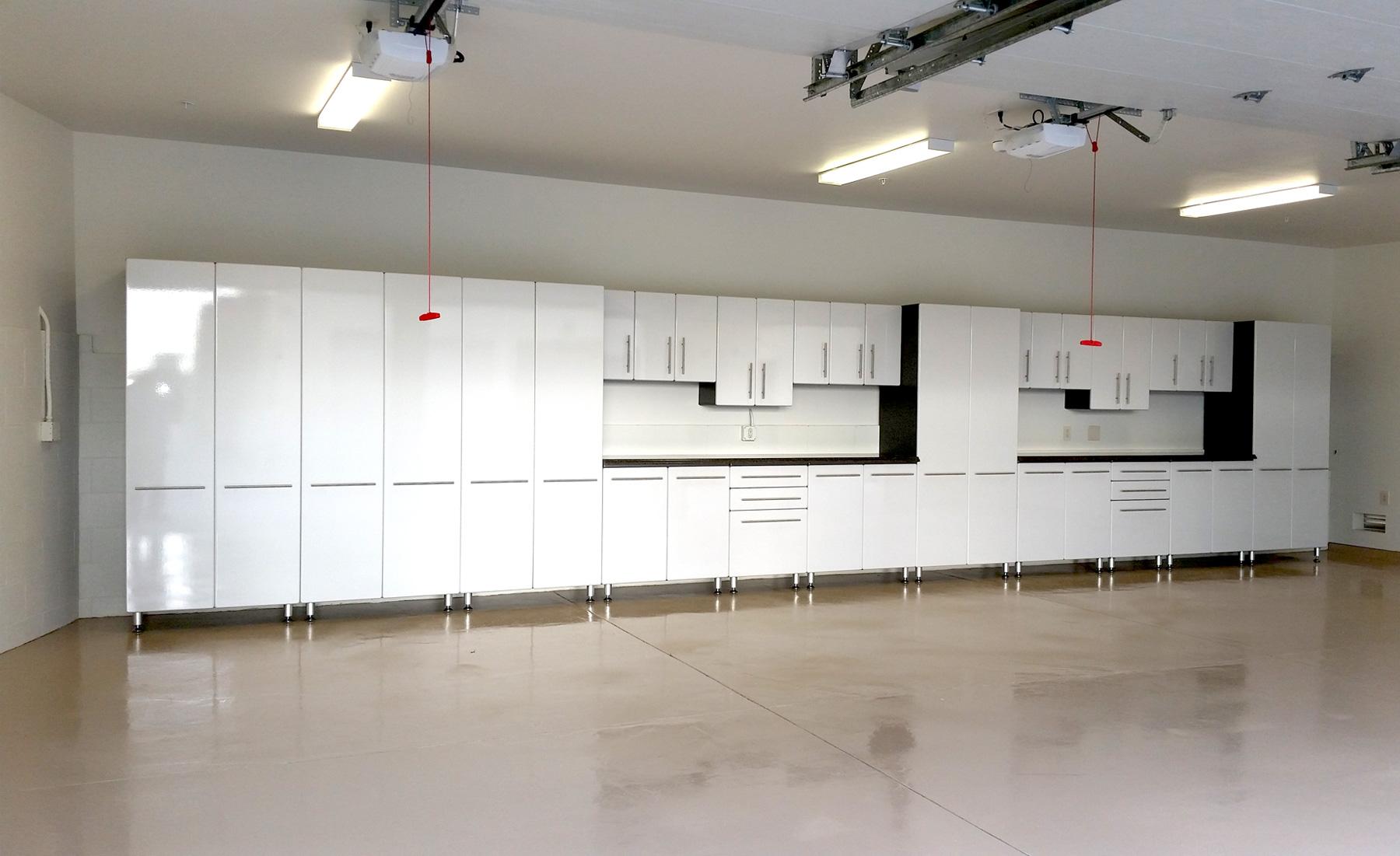 Bon Large Garage Organization System With Epoxy Coated Floors