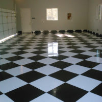 San Diego epoxy coated race floors