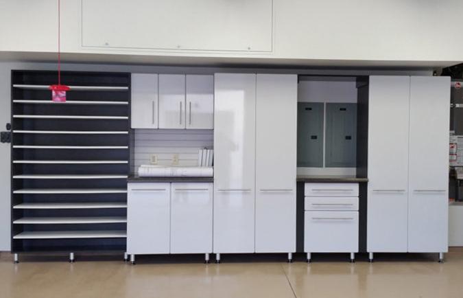 garage-organization-system white cabinets